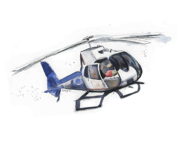 (Wholesale) Life Flight Helicopter Print