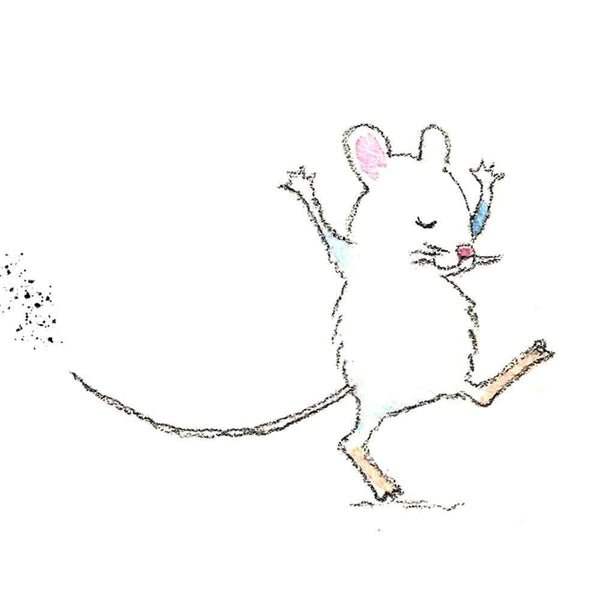dancing mice wall art print