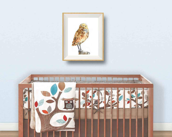 children's owl art print