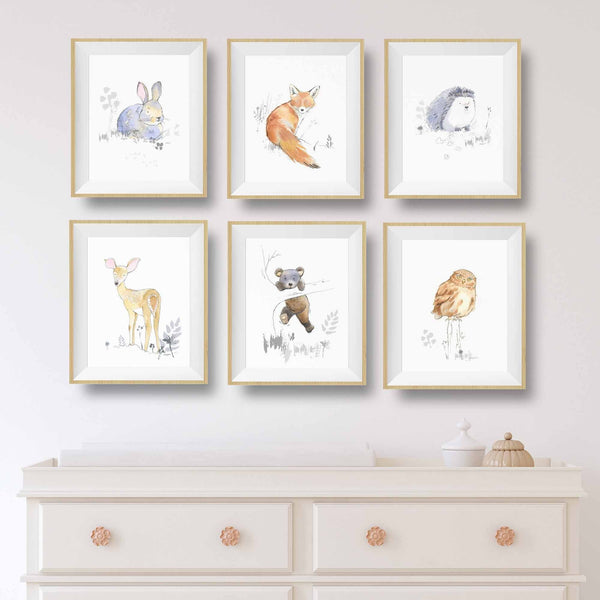 woodland animals prints