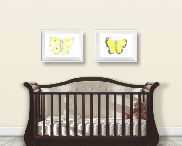 Yellow Butterfly Print #2