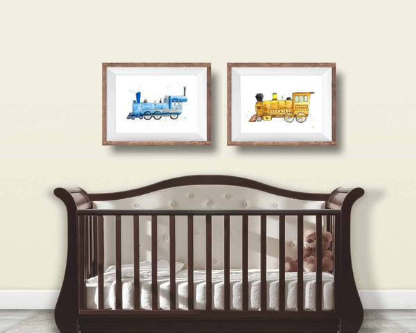 train nursery wall art