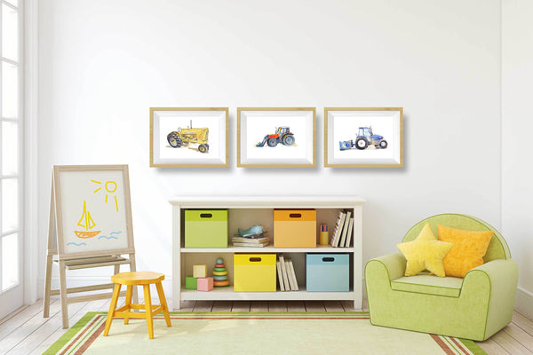 Yellow Tractor Print