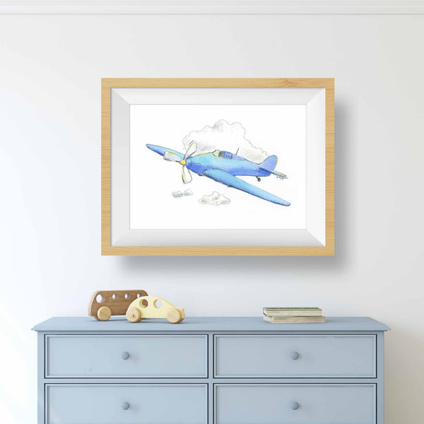 airplane prints for nursery
