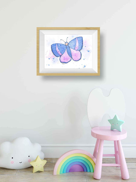 butterfly printable nursery wall art