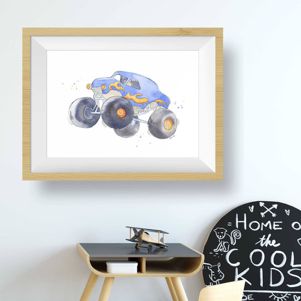 monster truck bedroom decor