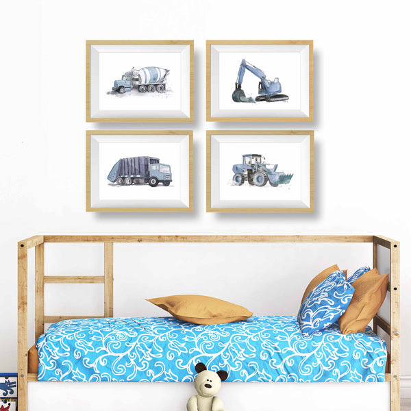 blue and gray wall decor boy