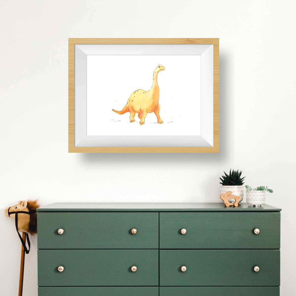 Orange Brachiosaurus Print