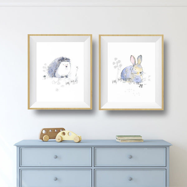 Sweet Woodland Animals Print Set