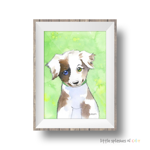 Black and White Dog Wall Art