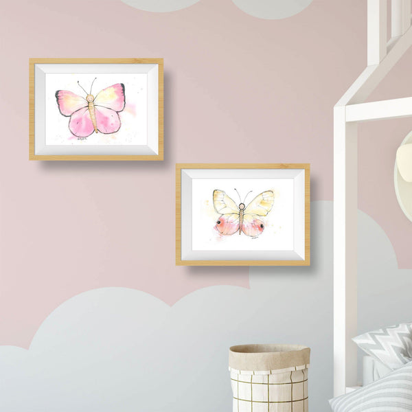 pink butterfly nursery decor