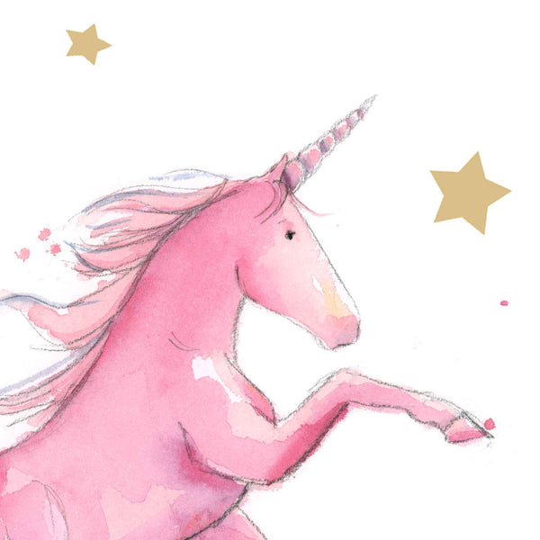 Pink Unicorn Art Print
