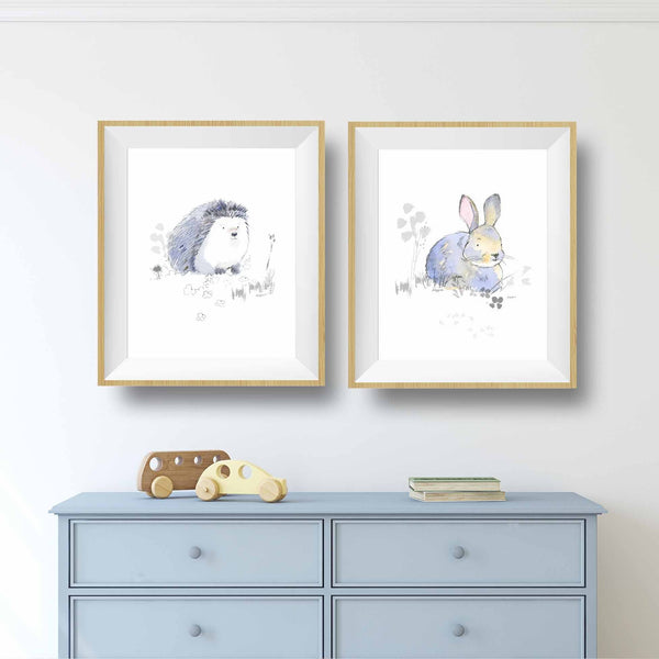 bunny prints for nursery