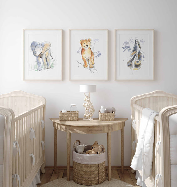 lion cub animal wall art