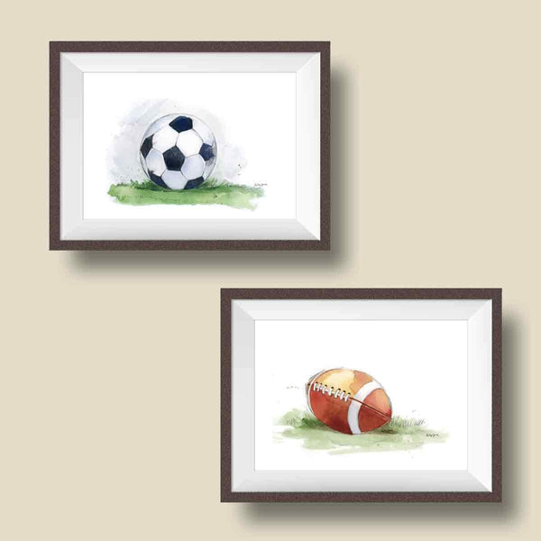soccer football art print