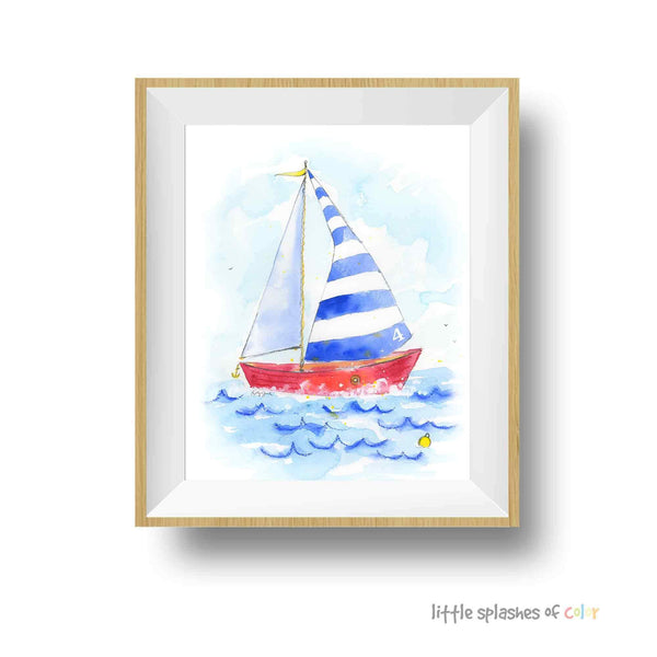 sailboat nursery decor