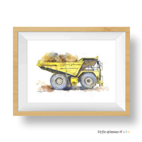 yellow dump truck printable