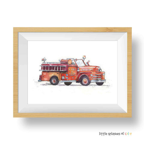 fire truck printable