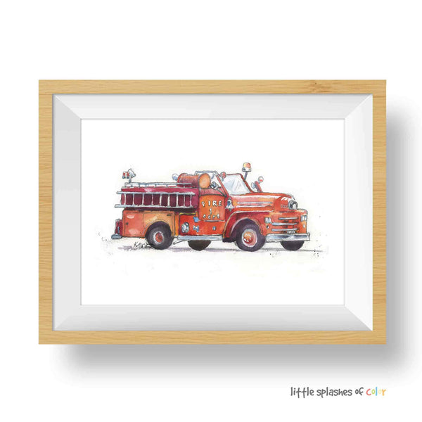 fire truck wall decor nursery