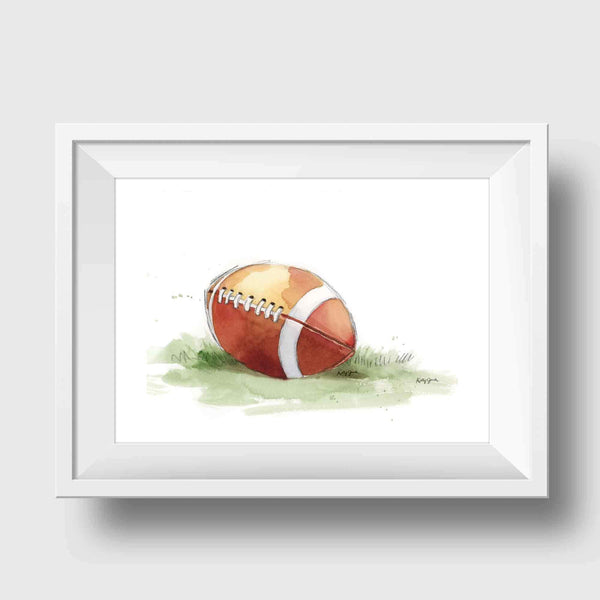 football wall art print