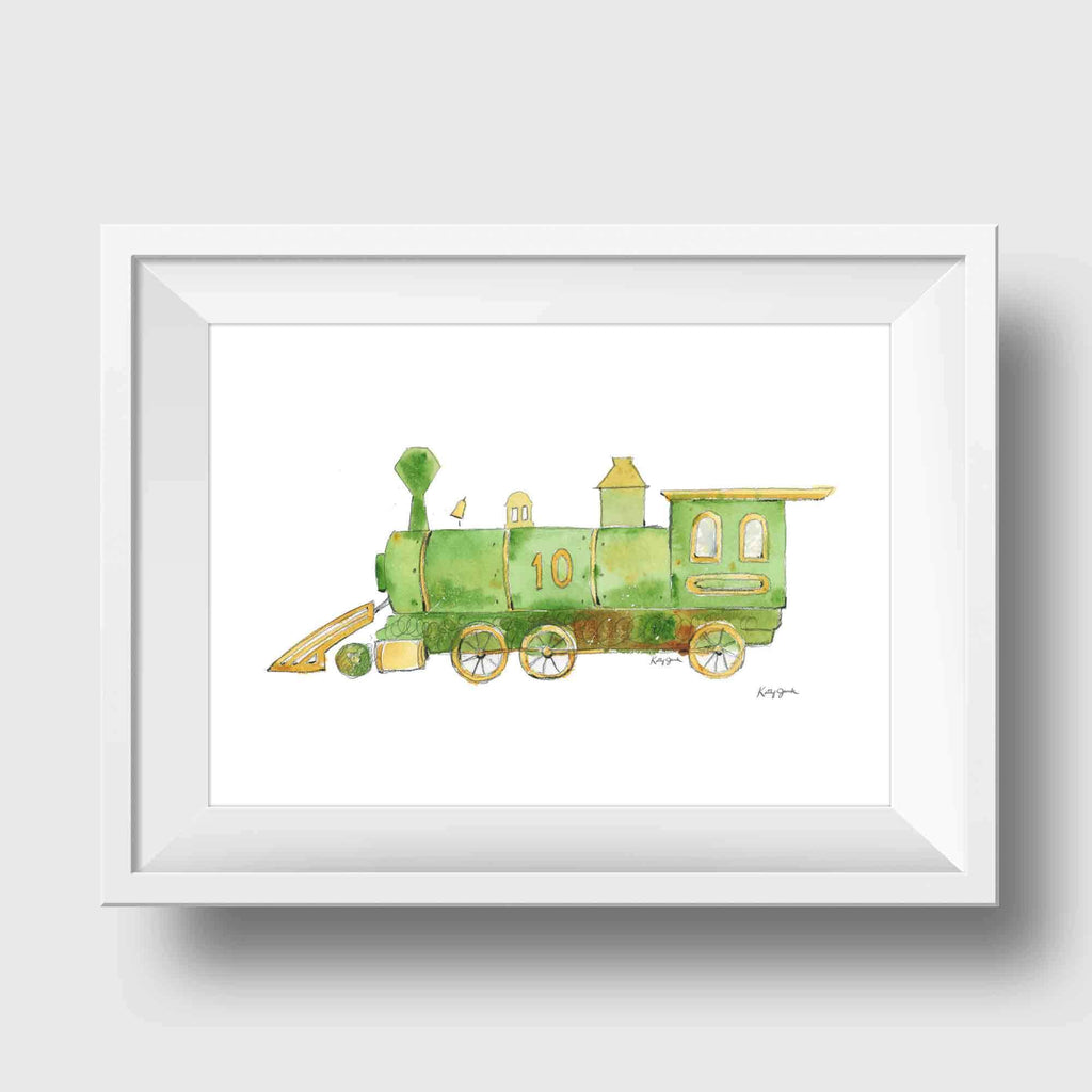 train nursery art print