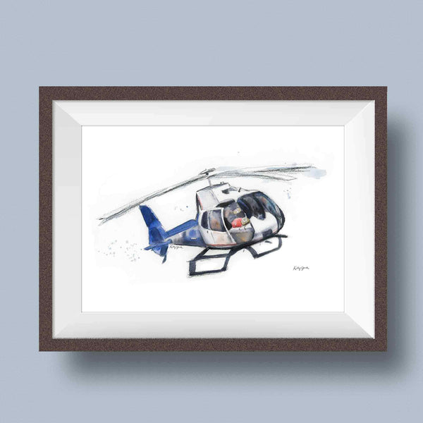 life flight helicopter art