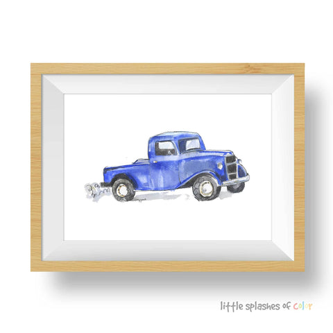 little blue truck print