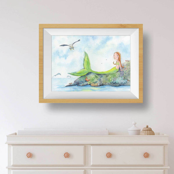 mermaid wall decor girl