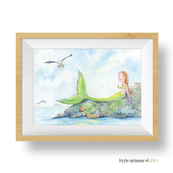 mermaid nursery wall decor