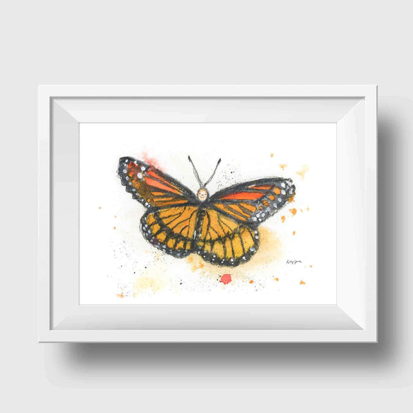 Orange Baby Butterfly Print