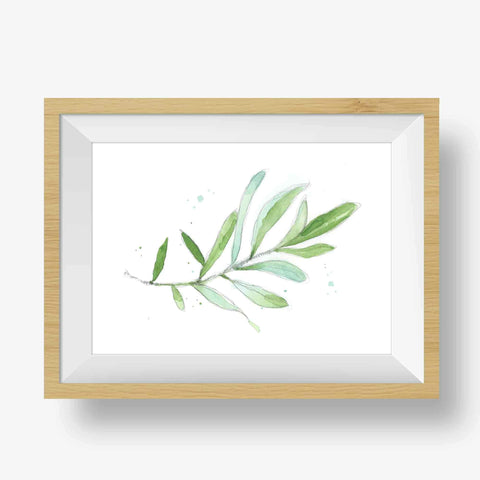 Olive branch nursery decor
