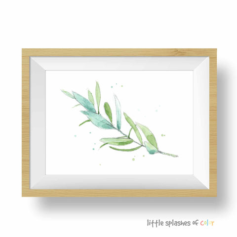 olive branch painting