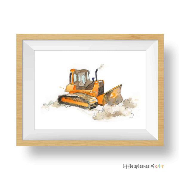 Orange Bulldozer #1 Printable