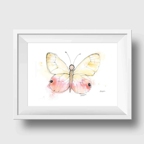 (Wholesale) Pink Baby Butterfly Print