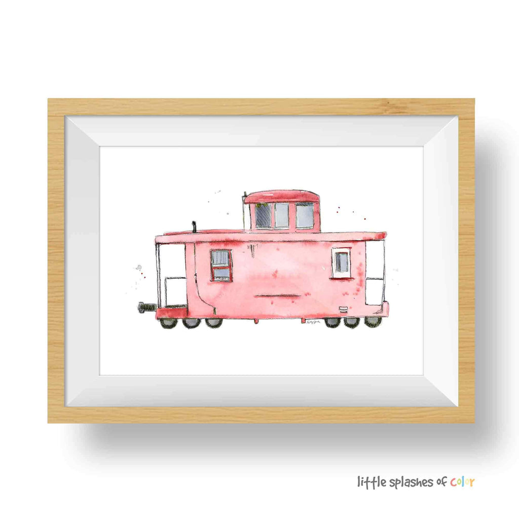 red caboose print