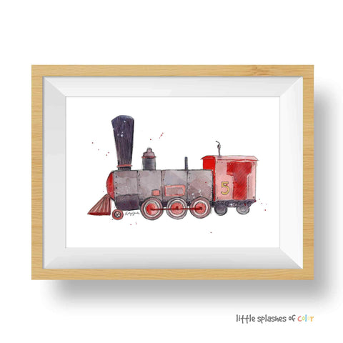 train wall art