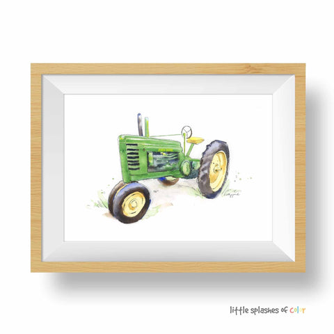 Green Tractor Print #4