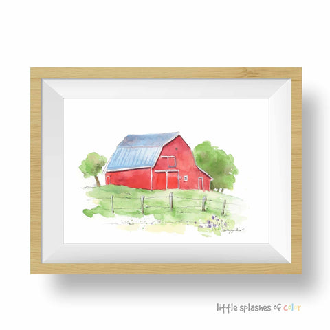 Red Barn Art Print (download)