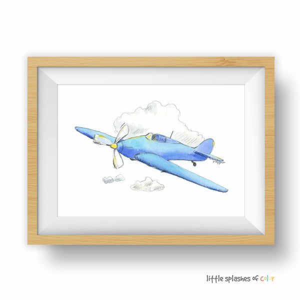 airplane nursery wall decor