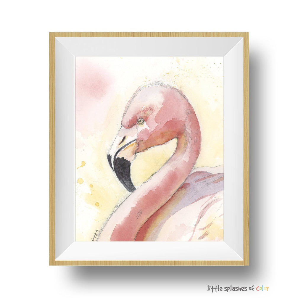 pink flamingo wall decor