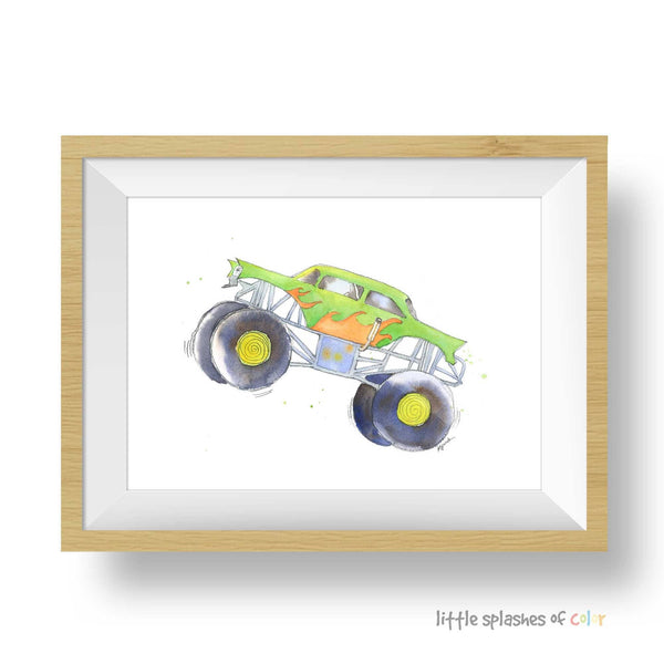 monster truck wall art