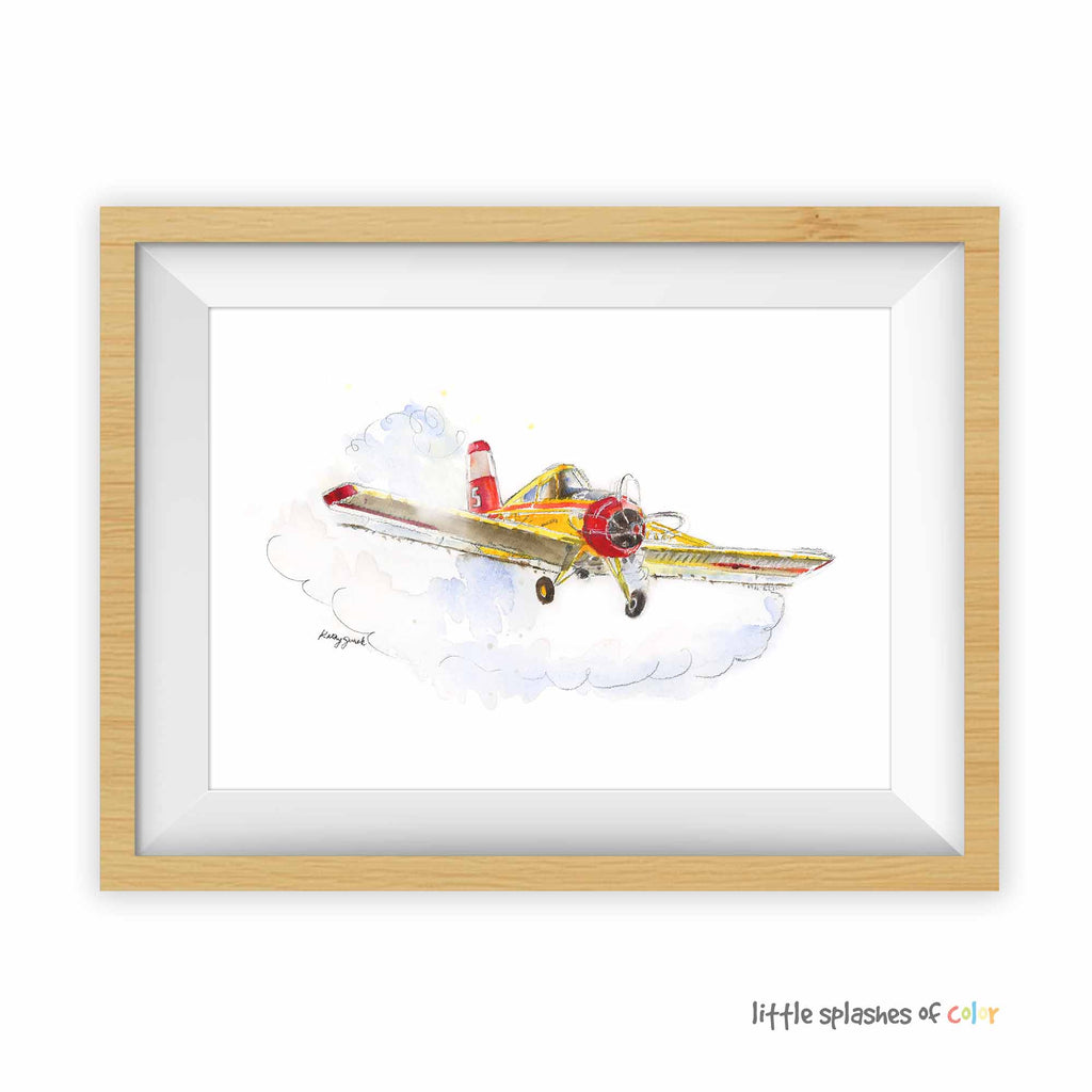 crop duster painting