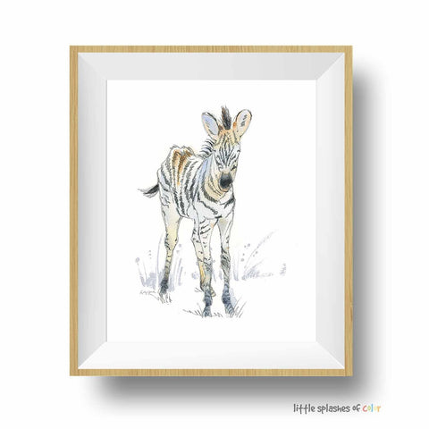 zebra print safari nursery