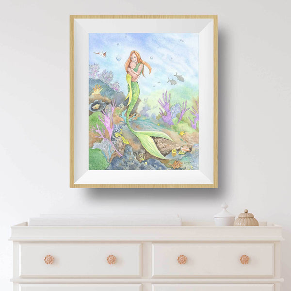 mermaid decor for nursery