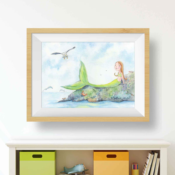 mermaid art for child's room