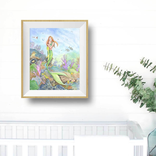 mermaid print art