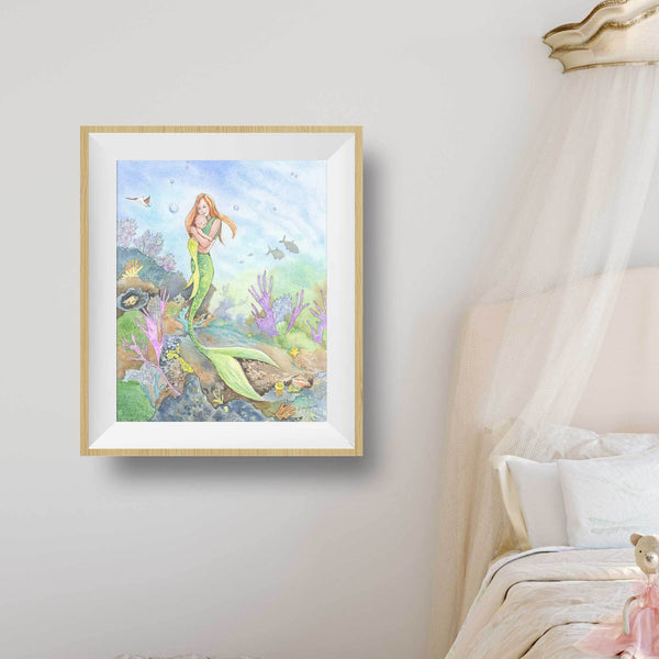 mermaid wall art for nursery