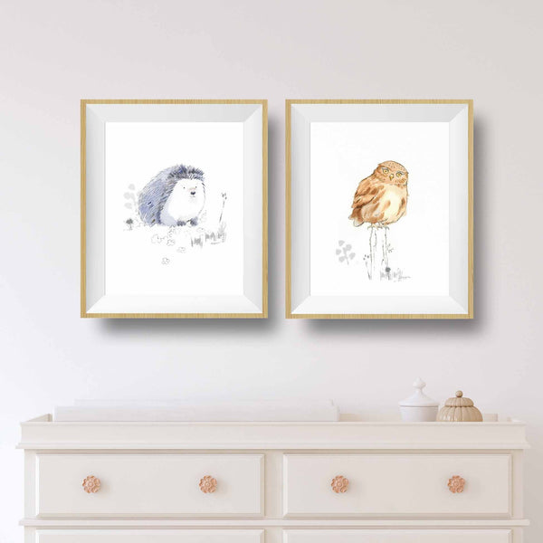 hedgehog nursery art