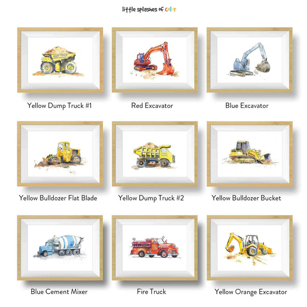 Yellow Dump Truck #3 Printable