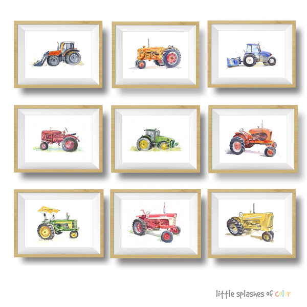 tractor prints for girls room